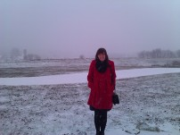 It snowed... a lot. Don't let my smile and cute outfit fool you - I did NOT approve.